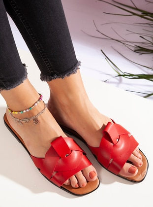Red - Sandal - Slippers
