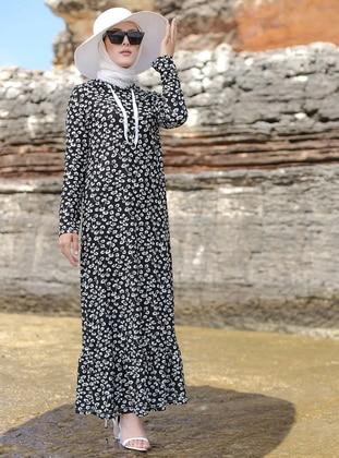 Black - Multi - Unlined - Dress