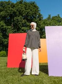 White - Ecru - - Pants