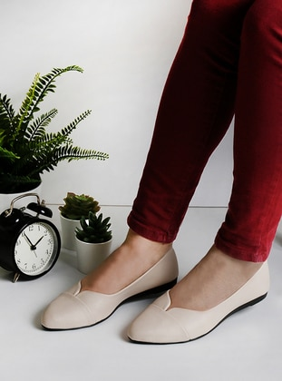 Cream - Flat - Flat Shoes