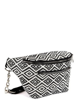 White - Black - Satchel - Bum Bag
