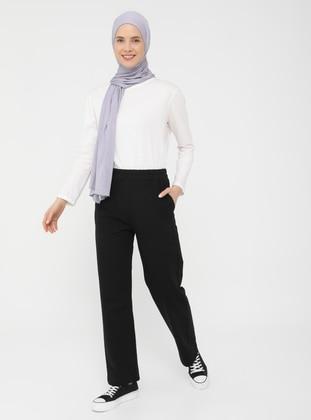 Pocket Detailed Track Pants - Black - Basic