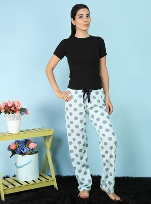 Sea-green - Polka Dot -  - Pyjama - AKBENİZ