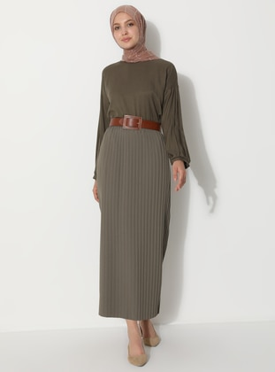 Khaki - Unlined -  - Skirt