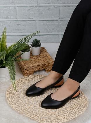 Black - Sandal - Sandal - Renkli Butik