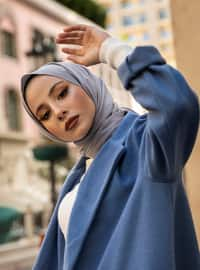 Blue - Unlined - Shawl Collar - Coat
