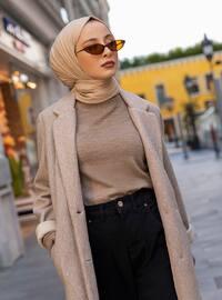 Stone - Unlined - Shawl Collar - Coat