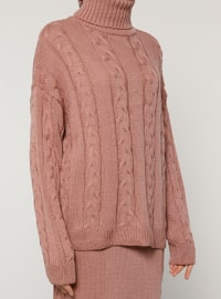 Pink - Unlined - Acrylic - Viscose - Suit