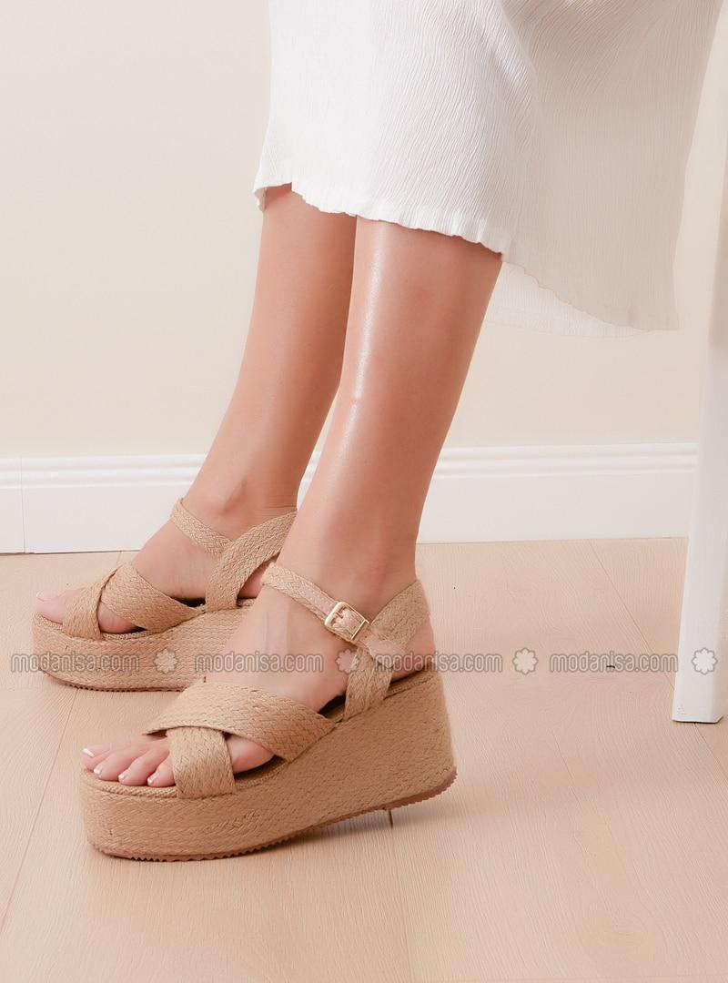 Beige - Sandal - Sandal