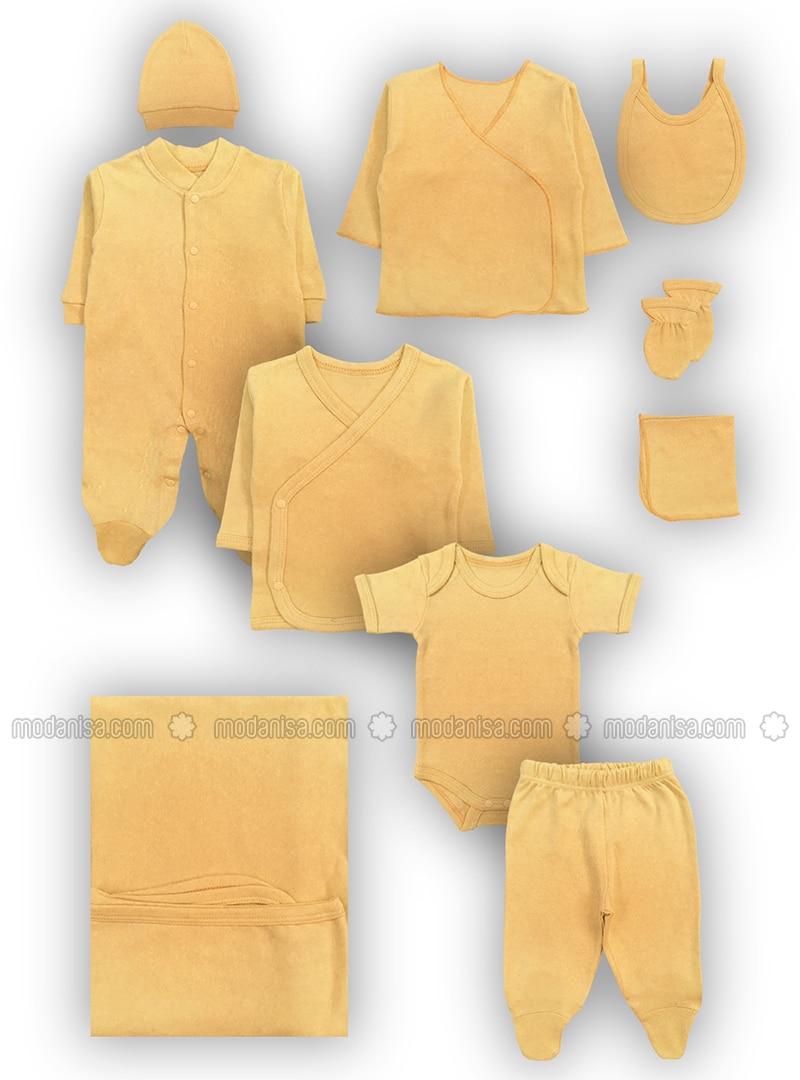 Crew neck - V neck Collar - - Brown - Baby Suit