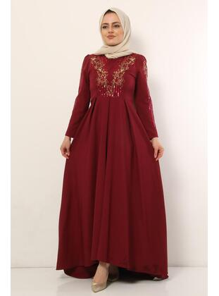 Maroon - Muslim Evening Dress