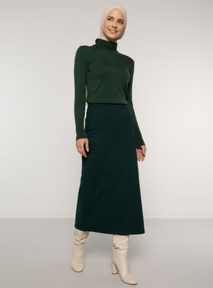 Green - Emerald - Unlined - Skirt