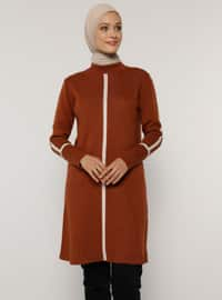 Cinnamon - Crew neck - Unlined - Knit Tunics
