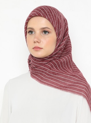 Fuchsia - Striped - Plain - Scarf