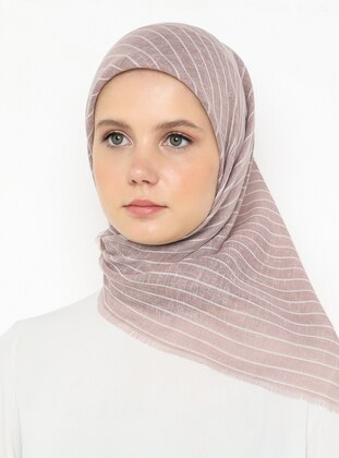 Powder - Striped - Plain - Scarf