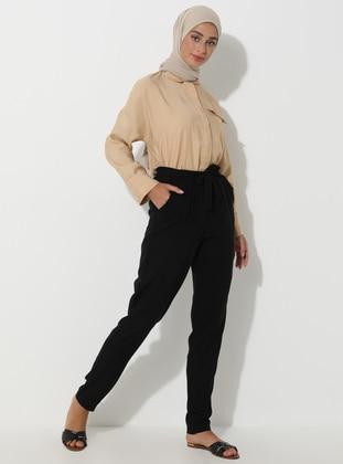 Black - Viscose - Pyjama