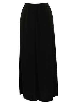 Black - Unlined - Skirt - SAYIN TESETTÜR