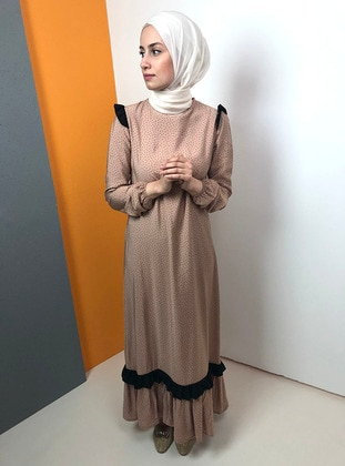Mink - Crew neck - Fully Lined - Dress