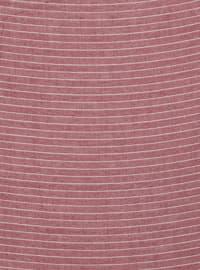 Maroon - Striped - Plain - Scarf