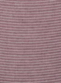 Plum - Striped - Plain - Scarf