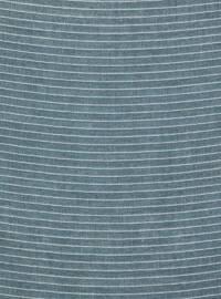 Blue - Petrol - Striped - Plain - Scarf