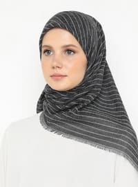 Black - Striped - Plain - Scarf