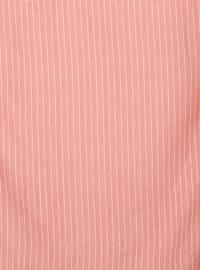 Salmon - Striped - Plain - Scarf