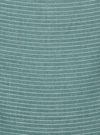 Green - Emerald - Striped - Plain - Scarf