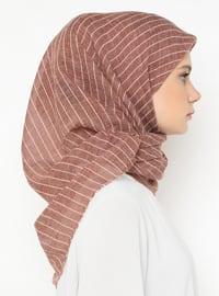Terra Cotta - Striped - Plain - Scarf