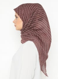 Terra Cotta - Striped - Plain - Scarf