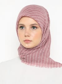 Pink - Striped - Plain - Scarf