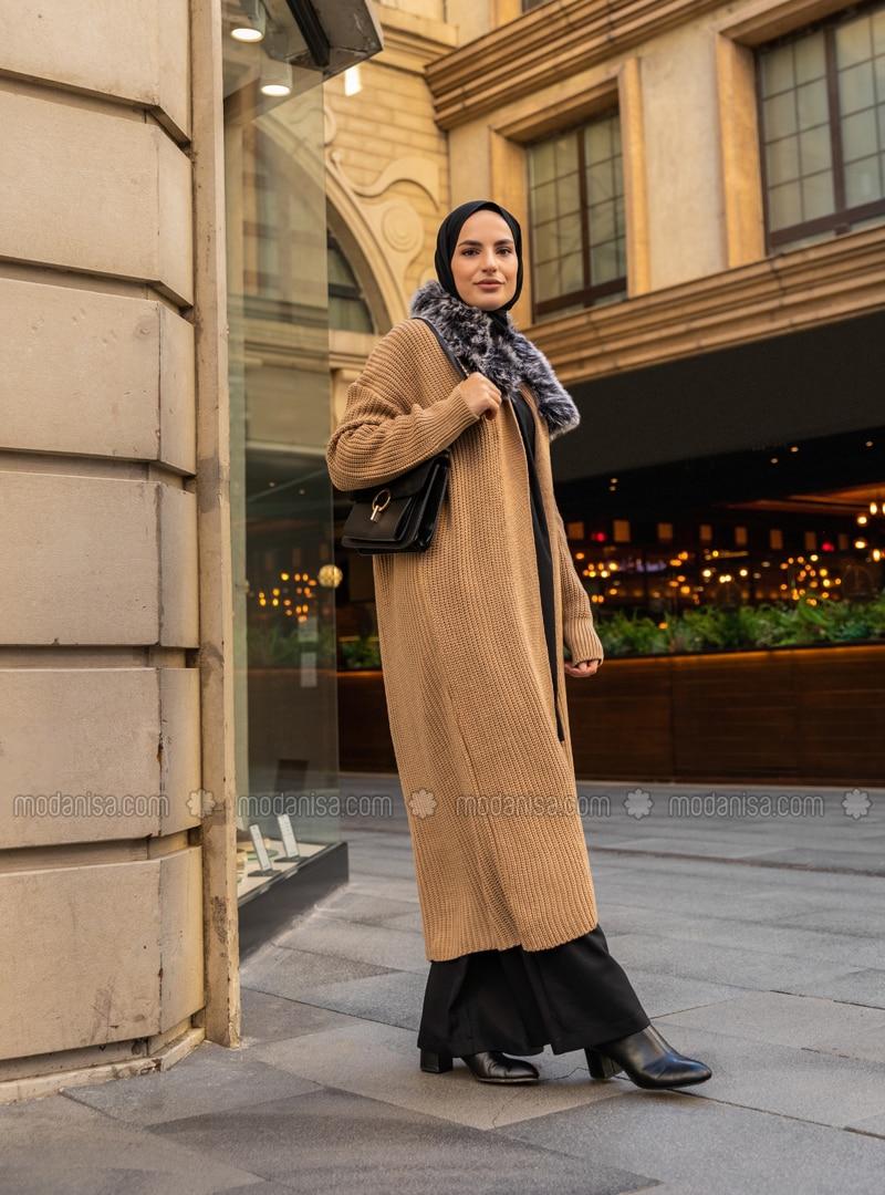 Camel - Acrylic - - Cardigan