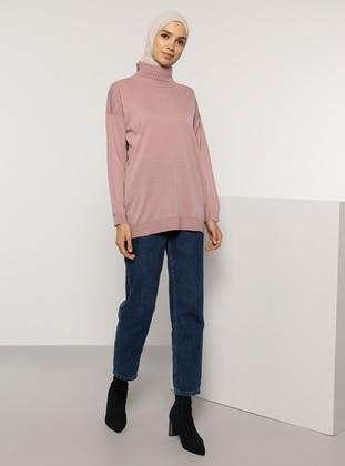 Dusty Rose - Polo neck - Acrylic -  - Jumper