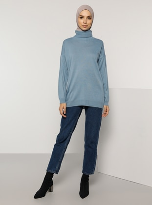 Indigo - Polo neck - Acrylic -  - Jumper