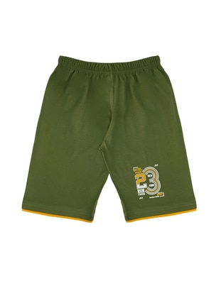 - Unlined - Green - Boys` Shorts