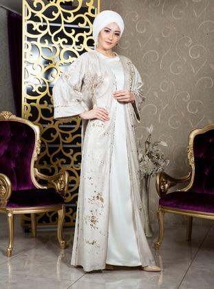 Gold - Beige - Evening Abaya