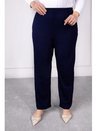 Navy Blue - Plus Size Pants