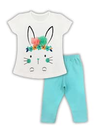 - Unlined - White - Blue - Girls` Suit