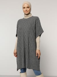 Silver tone - Unlined -  - Poncho