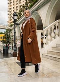 Cinnamon - Unlined - Viscose - Trench Coat