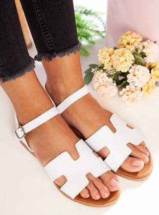 White - Sandal - Sandal - Ayakkabı Havuzu