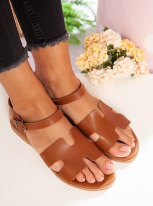 Tan - Sandal - Sandal - Ayakkabı Havuzu