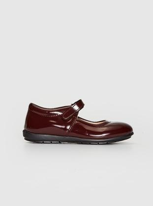 Maroon - Girls` Flat Shoes