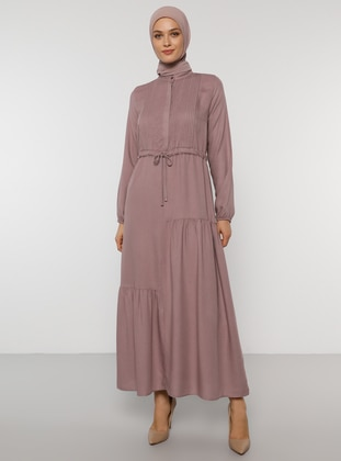 Dusty Rose - Polo neck - Unlined - Acrylic - Dress