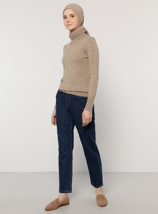 Mink - Polo neck - Acrylic -  - Jumper