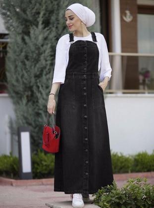 Black - Unlined -  - Plus Size Dress