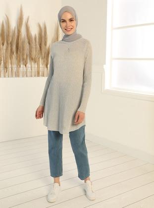 Natural Fabric Tunic - Gray