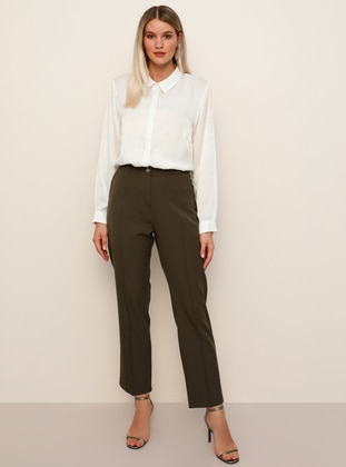Khaki - Plus Size Pants
