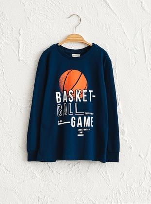 Navy Blue - Boys` T-Shirt - LC WAIKIKI