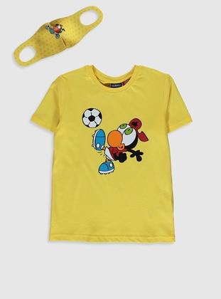 Yellow - Boys` T-Shirt - LC WAIKIKI